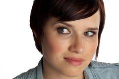 Headshot da mulher nova Fotos de Stock