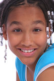 Headshot da vista dianteira de uma rapariga Fotografia de Stock Royalty Free