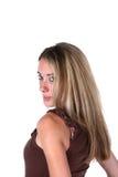 Headshot de bastante adolescente con el pelo largo Imágenes de archivo libres de regalías