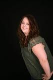Headshot de fille assez de poids excessif Image libre de droits
