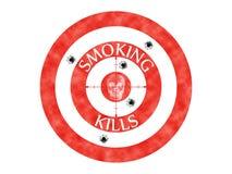Headshot de fumo do esqueleto do crânio das matanças do alvo Fotografia de Stock