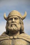 Headshot de la estatua de Gimli Manitoba vikingo imagenes de archivo