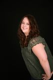 Headshot de la muchacha bastante gorda Imagen de archivo libre de regalías