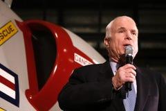 Headshot de la parole de John McCain Photographie stock libre de droits