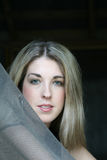 Headshot de los ojos verdes Fotos de archivo libres de regalías