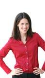 Headshot de un asunto, mujer de Corproate Imágenes de archivo libres de regalías
