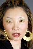 Headshot de una mujer japonesa Imagen de archivo libre de regalías