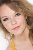 Headshot del adolescente hermoso con maquillaje Imágenes de archivo libres de regalías