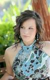 headshot del brunette grazioso fotografia stock libera da diritti