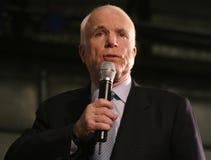 Headshot del discurso de Juan McCain Foto de archivo