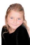 Headshot del niño femenino fotografía de archivo