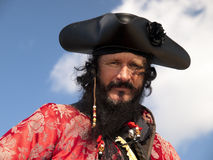 Headshot del pirata de Blackbeard imagenes de archivo