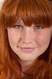 Headshot del redhead sveglio Fotografia Stock