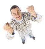 Headshot dell'uomo felice Immagini Stock Libere da Diritti