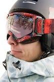 Headshot dello snowboarder Fotografia Stock