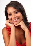 Headshot des erstaunlichen schönen Lächelns des jungen Mädchens Stockbilder