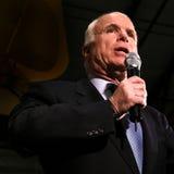 Headshot do discurso de John McCain Foto de Stock Royalty Free