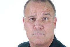 Headshot emotional male man senior Stock Photography