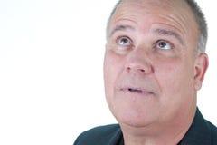 Headshot emotional male man senior Stock Image