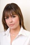 Headshot femminile di affari - serie della gente Fotografie Stock