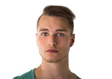 Headshot of handsome blond young man Royalty Free Stock Photo