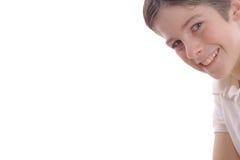 Headshot heureux d'enfant avec le copyspace images libres de droits