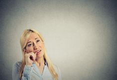 Headshot lazy young woman. Human emotion attitude Stock Photography