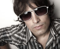 Headshot of a man with sunglasses Royalty Free Stock Images