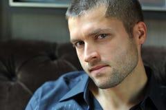 Headshot masculino do ator Fotografia de Stock