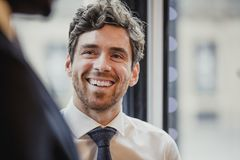 Headshot of a Mid-Adult Businessman royalty free stock photography