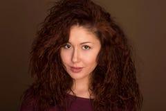 Headshot Mulher Olhar de fascínio Fotos de Stock Royalty Free