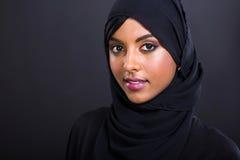 Headshot musulmán de la mujer fotografía de archivo