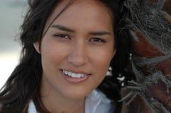 Headshot Of A Gorgeous Native Stock Image