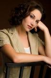 Headshot piękna młoda kobieta Obrazy Stock