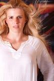 headshot piękna kobieta Zdjęcia Stock
