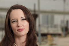 headshot piękna kobieta Fotografia Stock