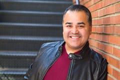Headshot Portrait of Handsome Hispanic Man royalty free stock photography