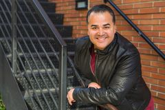 Headshot Portrait of Handsome Hispanic Man royalty free stock photos