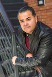 Headshot Portrait of Handsome Hispanic Man stock photo