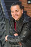 Headshot Portrait of Handsome Hispanic Man royalty free stock images
