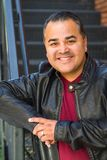 Headshot Portrait of Handsome Hispanic Man royalty free stock photo