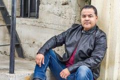 Handsome Hispanic Man in Urban Setting royalty free stock photos