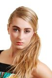 Headshot of pretty blond teenager Royalty Free Stock Image