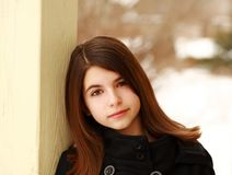 Headshot of pretty young girl Stock Images