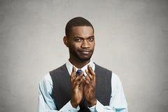 Headshot sly, scheming businessman Stock Photos