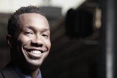 Headshot of a smiling businessman Stock Photo