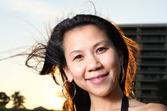 Headshot of a smiling woman Stock Photography