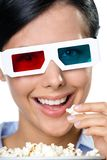 Headshot of the spectator in 3D spectacles Royalty Free Stock Photo