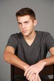 Headshot stara nastoletnia chłopiec Fotografia Stock
