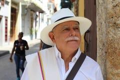 Headshot suramericano tradicional del hombre foto de archivo libre de regalías